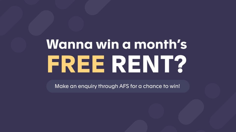 Win 1 months free rent